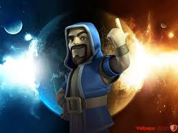 wizard fire and lightning wallpaper clash of clans hd