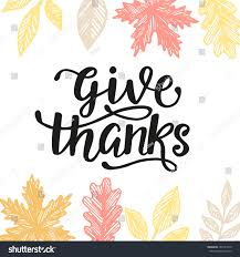 give thanks thanksgiving day poster stock vector 483187378