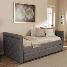 modern gray tufted twin daybed rc willey furniture store