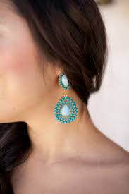 turquoise bridal earrings of the month turquoise arabia weddings