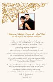 exles of wedding programs wording wedding reception welcome speech