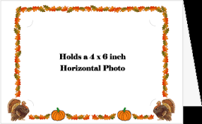 thanksgiving border photo holder card