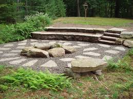 Stone Patio With Fire Pit Gallery Fire Pits U0026 Places