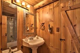 log cabin master bathrooms