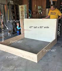 Diy King Platform Bed Storage by Best 25 King Bed Frame Ideas On Pinterest Diy King Bed Frame