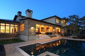 home design belvedere lake travis hill country modern rear