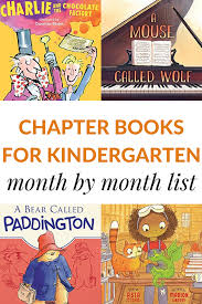 read aloud chapter books for kindergarteners month by month