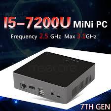 pc bureau intel i5 intel i5 7200u mini pc windows 10 ordinateur de bureau nuc pocket pc