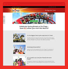 Six Flags Investors Six Flags Mobile Website Design Tilted Square