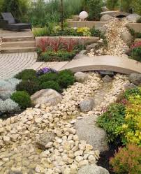 native landscaping rock garden water feature proudgreenhome