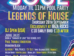 mi biza soul legends of house pool party tickets ibiza rocks mi biza soul legends of house pool party