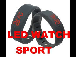 mens rubber bracelet watches images Led sport watch bracelet date silicone hot new mens womens casual jpg