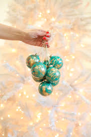 simple ornament gifts gold marbled ornaments lovely