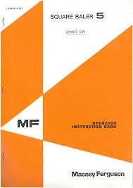massey ferguson mf5 baler operators manual mf 5