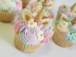 unicorn party supplies 24 sets of fondant unicorn cupcake toppers