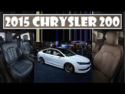 2015 Chrysler 200 Interior 2015 Chrysler 200 Adding Two New Interior Choices With Blue And