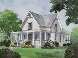 Small Home Plans With Porches Four Gables And Lots Of Porches Make Windows Floor To Ceiling