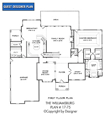 floor plan williamsburg house plan house plans by garrell