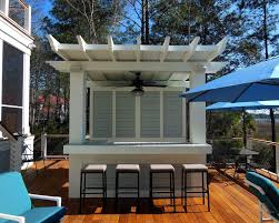 Pergola Ceiling Fan by Traditional Deck With Outdoor Ceiling Fan By Dlb Custom Home