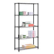 Bed Bath And Beyond Bathroom Shelves by Honey Can Do Steel 5 Tier Shelving Unit Bed Bath U0026 Beyond