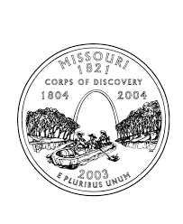 coloring pages quarter missouri state quarter coloring page usa state quarters