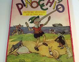 pinocchio puzzle etsy