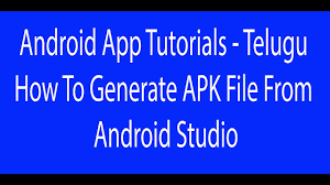 apk development how to generate apk file from android studio android app