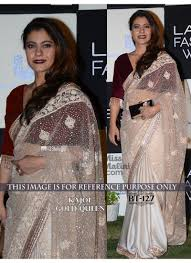 velvet blouse kajol gold silk and velvet blouse saree 127