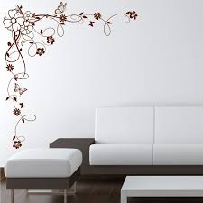 corner flower vine hibiscus wall art sticker vinyl transfer decal corner flower vine hibiscus wall art sticker vinyl
