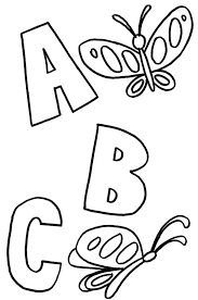 coloring pages abc coloring pages kindergarten printable kids