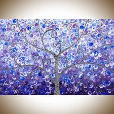 Colorful Painting by Lavender Evening By Qiqigallery 36
