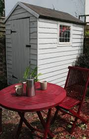 Lifestyle Garden Furniture Shed Painted With Royal Exterior Stone Grey And Garden Furniture
