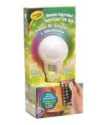 color changing light bulb with remote review of the crayola remote controlled led color changing lightbulb