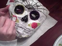 Day Of The Dead Mask Making Day Of The Dead Masks At Hilton U0027s Place Youtube