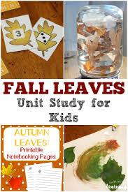 free homeschool unit studies fall leaves