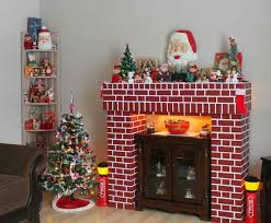 Christmas Decoration For A Fireplace by Fake Fireplace For Christmas Decoration Cpmpublishingcom
