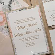Free Online Wedding Invitations Fancy Flower Letterpress Wedding Invitations Floral Wedding