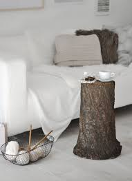 fall decor how to style a tree trunk at home