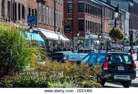 quaint shops newburyport massachusetts usa stock photo royalty