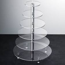 hayley cherie 6 tier cupcake stand acrylic tiered wedding cake