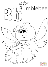 letter b is for bumblebee coloring page free printable coloring