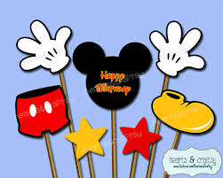 mickey mouse centerpiece cutouts mickey topper