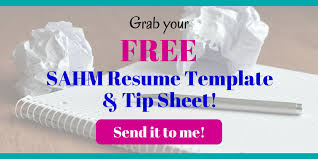 Sahm Resume Sample by Why Every Mom Needs A Master Resume U0026 How To Make One