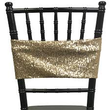 spandex chair sashes sequin spandex chair sash chagne