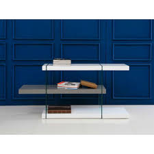 il vetro collection high gloss white gray lacquer bookcase by