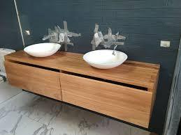 Bathroom Bowl Vanities Bathroom Twin Bowl Vanity Unit Timber Furniture Sydney