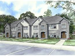 House Plans For Two Families Laboure European Fourplex Home Plan 055d 0404 House Plans And More