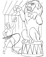 Circus Animal Coloring Pages Free Printable Circus Animal Circus Coloring Page