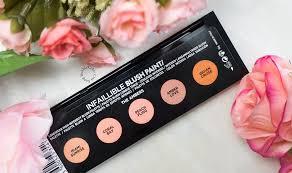 l u0027oréal infaillible blush paint palette in the ambers bubblycolor