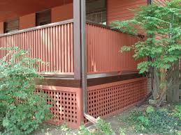 porch with new stairs u0026 lattice new prairie construction